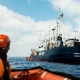 Schnellboot der ALAN KURDI im Mittelmeer