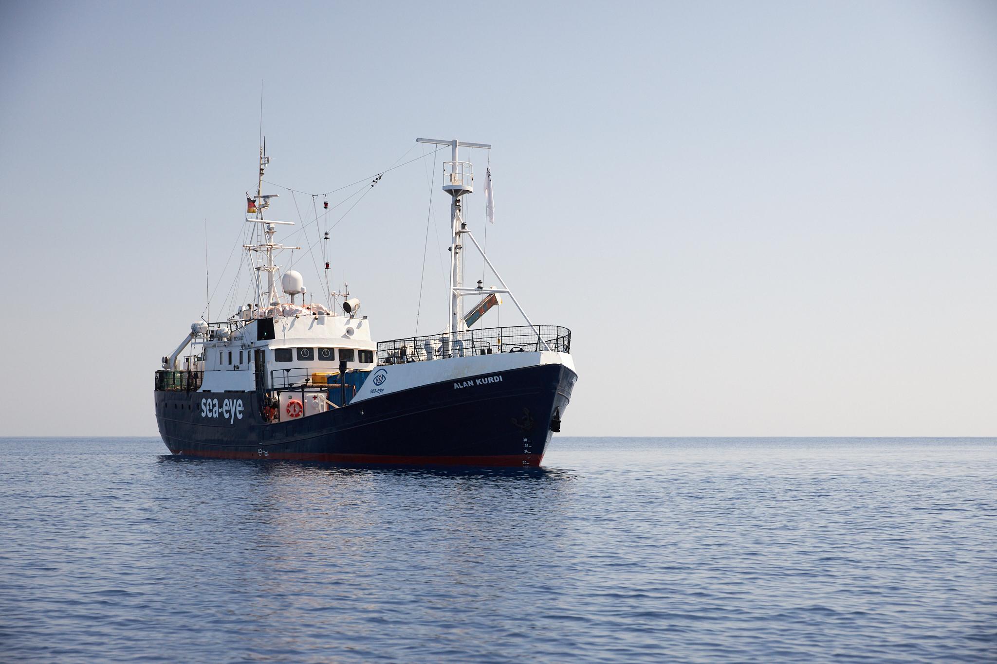 Rettungsschiff ALAN KURDI im Mittelmeer