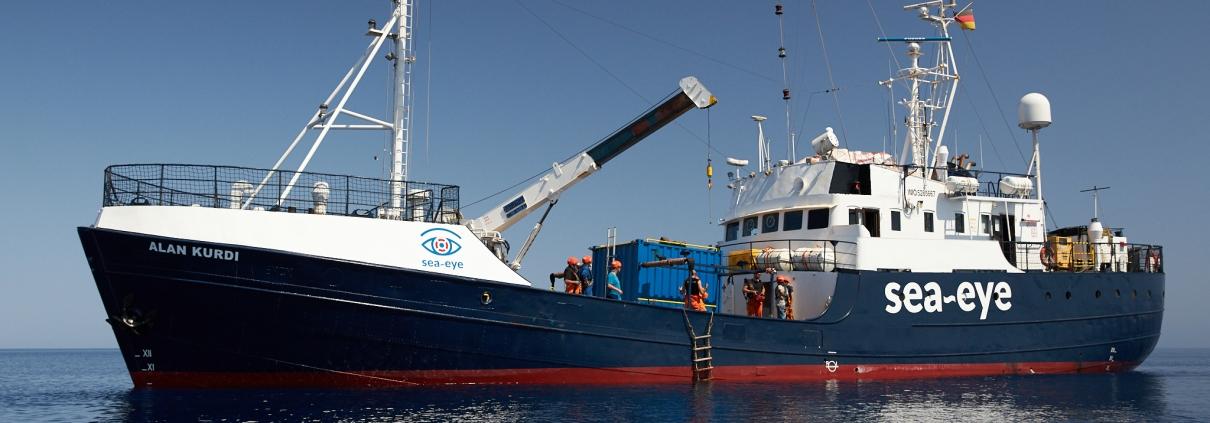 Rettungsschiff: ALAN KURDI im Mittelmeer