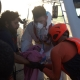 Evacuation of a baby from ALAN KURDI