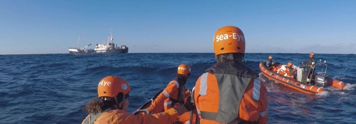 Rettungsboote der ALAN KURDI auf dem Mittelmeer