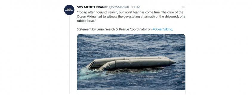 SOS Mediterranee: Tweet