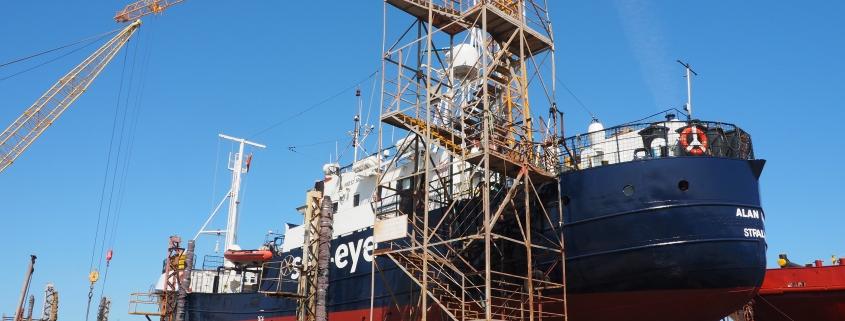 ALAN KURDI in der Werft