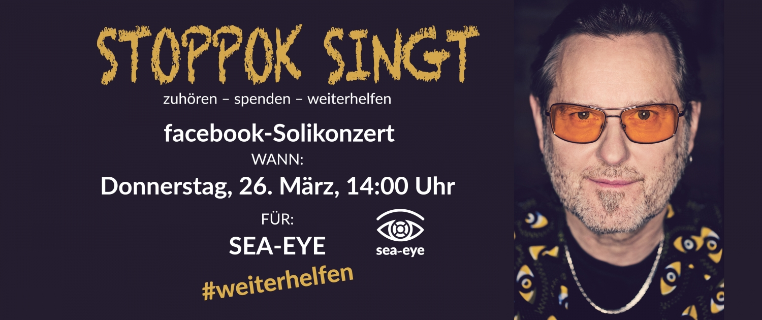 facebook-Solikonzert für Sea-Eye: Stoppok singt