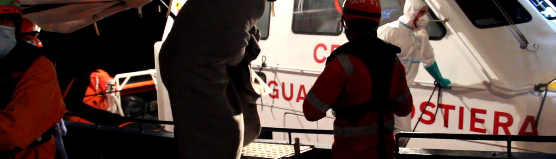 Evacuation by the Italian coast guard