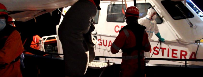 Evakuation durch die italienische Küstenwache