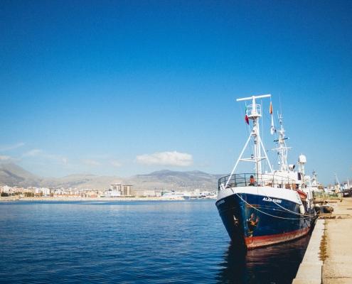 Die ALAN KURDI in Palermo