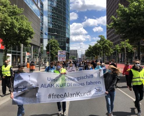 Demonstration in Berlin © Martin Geiger
