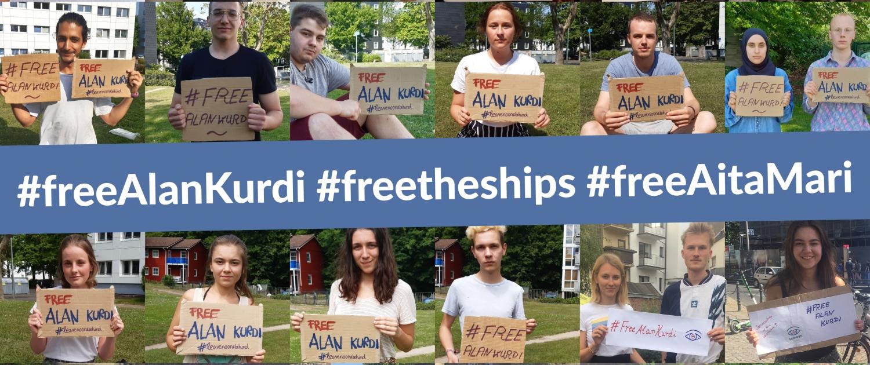 #freeAlanKurdi / #freetheships / #freeAitaMari