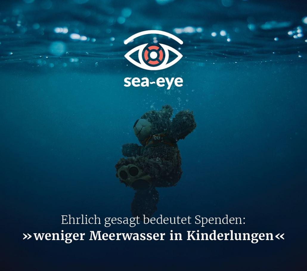 Ehrlich gesagt bedeutet Spenden: »weniger Meerwasser in Kinderlungen«