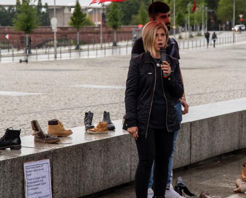 Mahnwache für die Familie Kurdi in Berlin