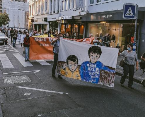 Mahnwache für die Familie Kurdi in Bonn