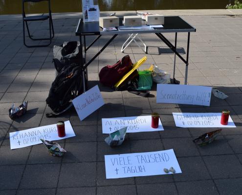 Mahnwache für die Familie Kurdi in Fürth