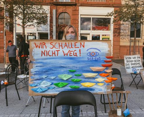 Mahnwache für die Familie Kurdi in Kaiserslautern