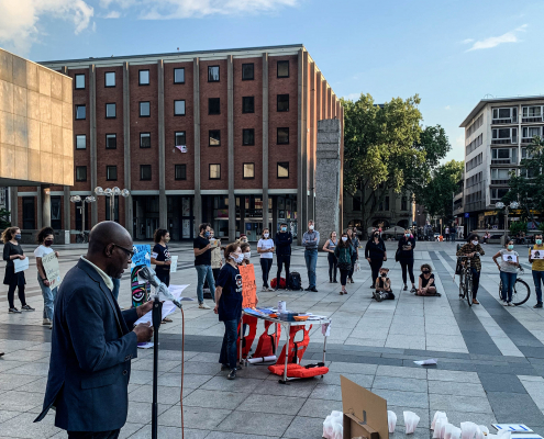 Mahnwache für die Familie Kurdi in Köln