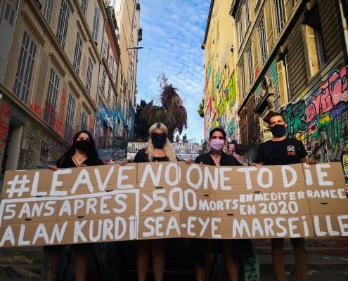 Mahnwache für die Familie Kurdi in Marseille