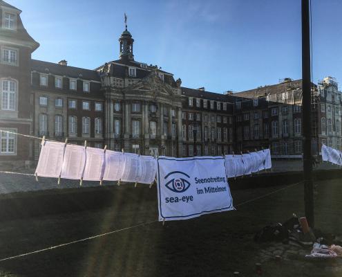 Mahnwache für die Familie Kurdi in Münster