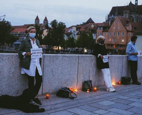 Mahnwache für die Familie Kurdi in Regensburg