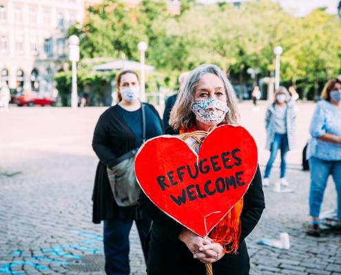 Mahnwache für die Familie Kurdi in Wiesbaden
