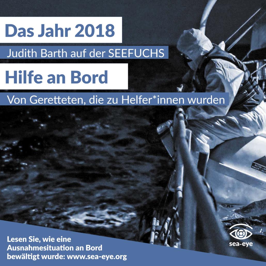 Vier Jahre Seenotrettung: Die Nacht, in der aus unseren Gästen Hefler*innen wurden