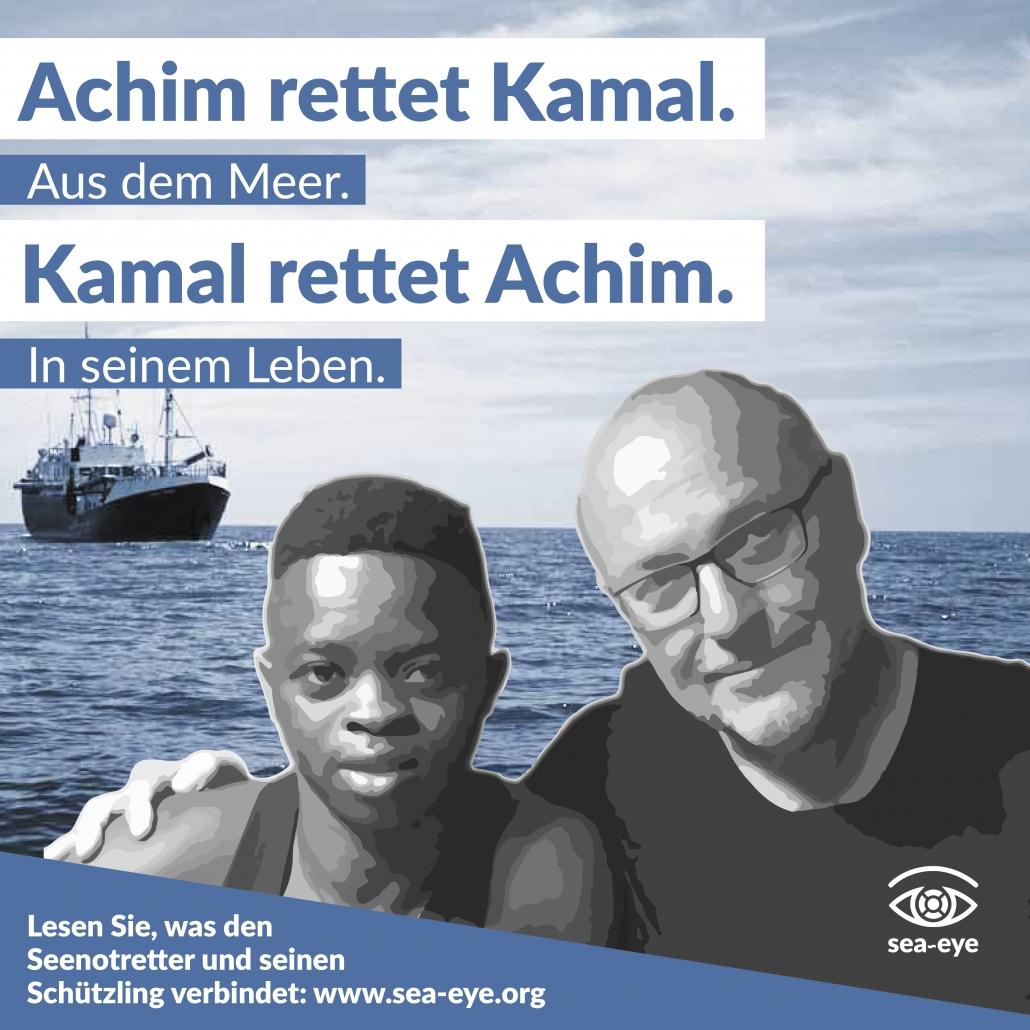 Vier Jahre Seenotrettung: Achim und Kamal
