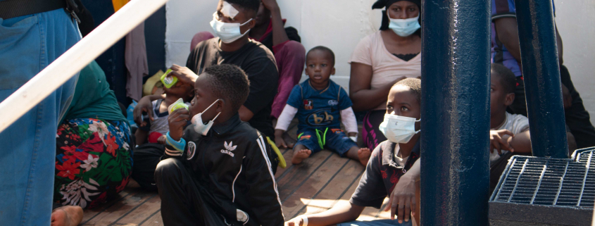 Gerette Kinder an Bord der ALAN KURDI