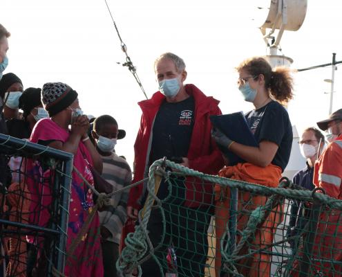 Gerettete an Bord der ALAN KURDI