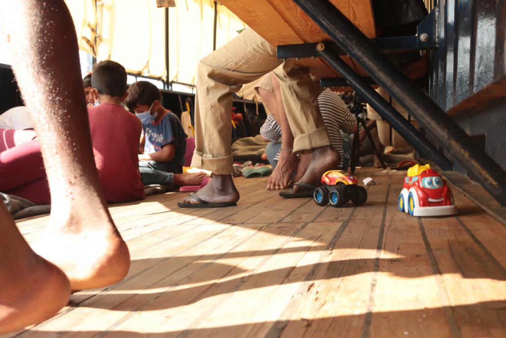 Children playing on the ALAN KURDI
