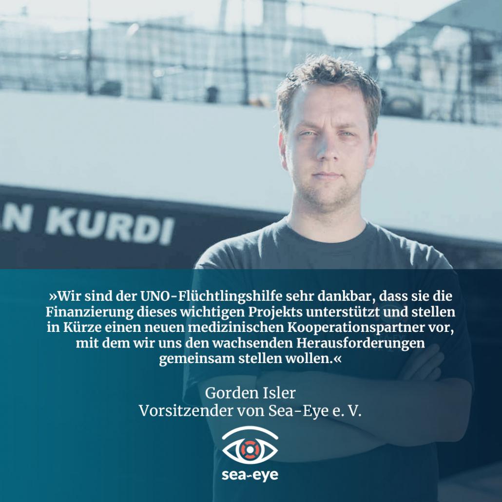 Gorden Isler, Vorsitzender von Sea-Eye e. V.