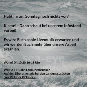 Lokalgruppe Hamburg: Veranstaltung Seenotrettung im Mittelmeer