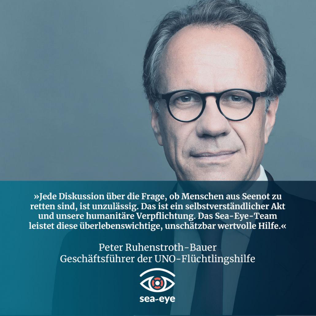 Peter Ruhenstroth-Bauer, Geschäftsführer der UNO-Flüchtlingshilfe