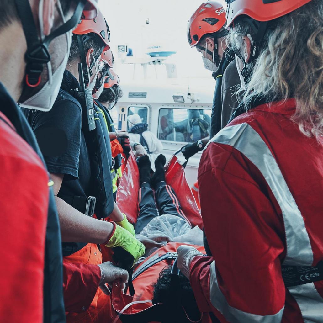 SEA-EYE 4: Medizinische Evakuierung