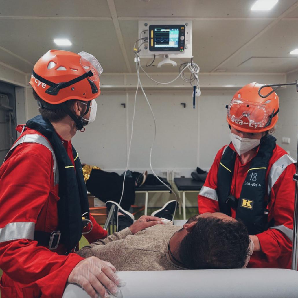 SEA-EYE 4: Krankenstation