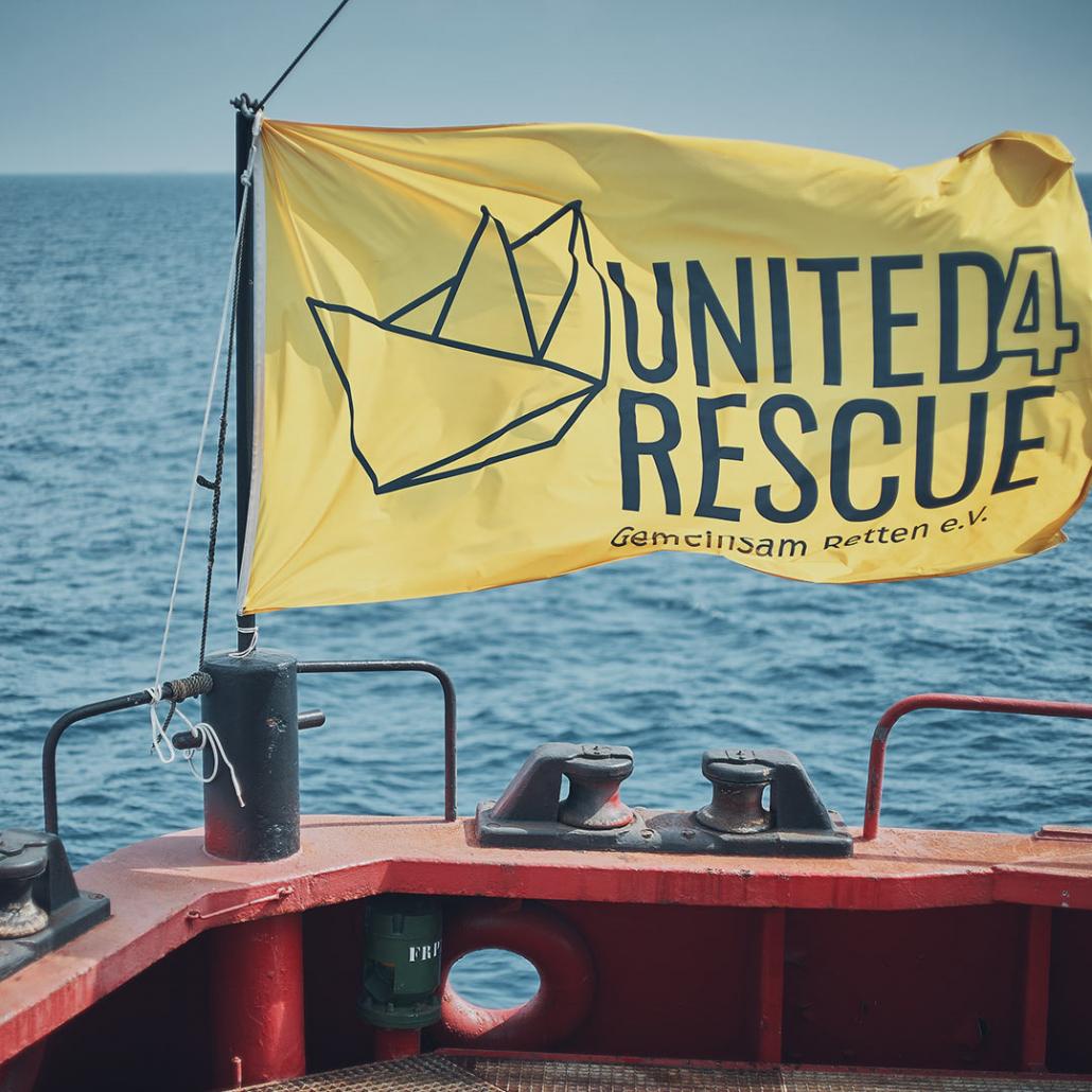 Fahne: United4Rescue