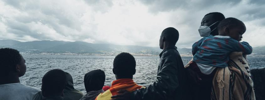 Refugees on board the SEA-EYE 4
