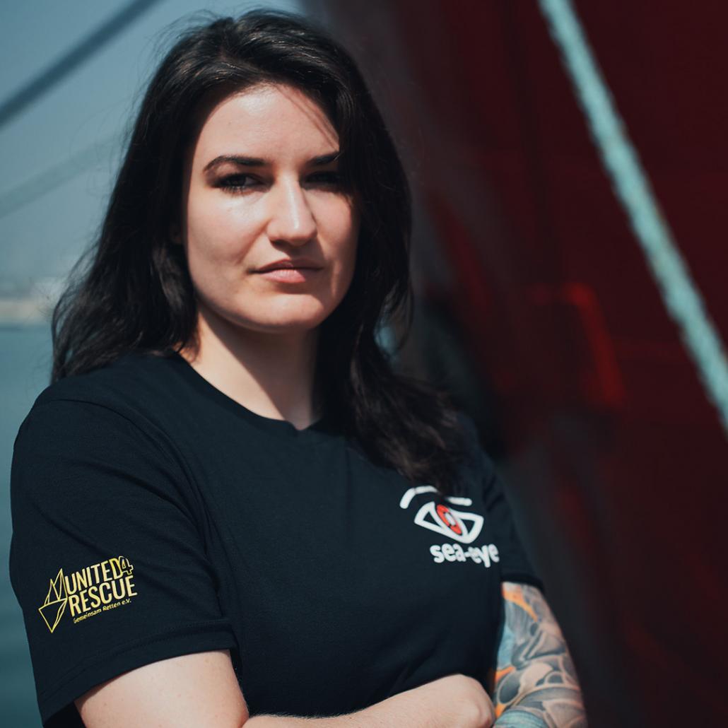 Sophie Weidenhiller, Pressesprecherin von Sea-Eye